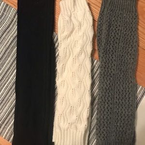 Accessories - (Set of 3) Various knit leg warmers. 🖤
